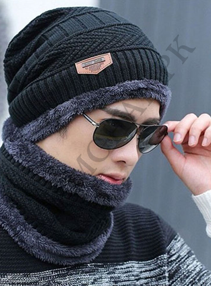 Cap-And-Neck-Scarf-Wool-Warm-Red-Color-Black-1.jpg